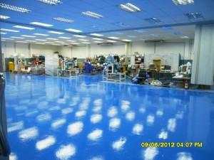 รับทำพื้นอีพอกซี่ พื้นโรงงาน พื้นปลอดฝุ่น epoxy coat